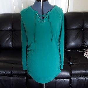 Teal Maternity Blouse